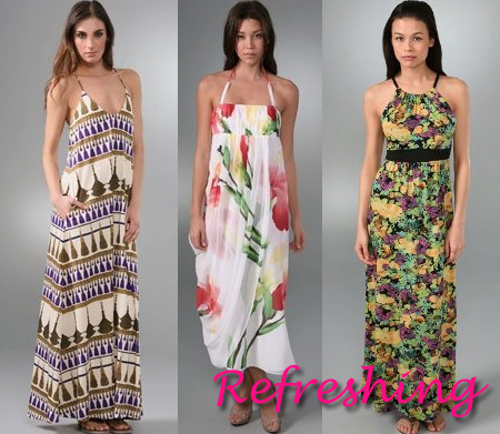 maxi dress- refreshing