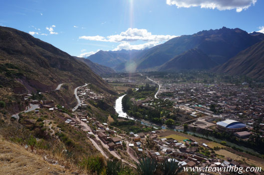A view of Sacred Valley and Urubamba from the lookout spot